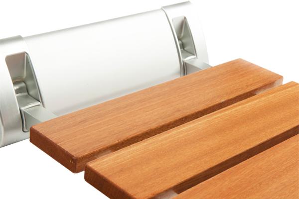 Asiento ducha abatible de madera easy way healthcare for Asiento plegable ducha