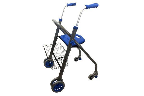 caminador alba con ruedas y cesta