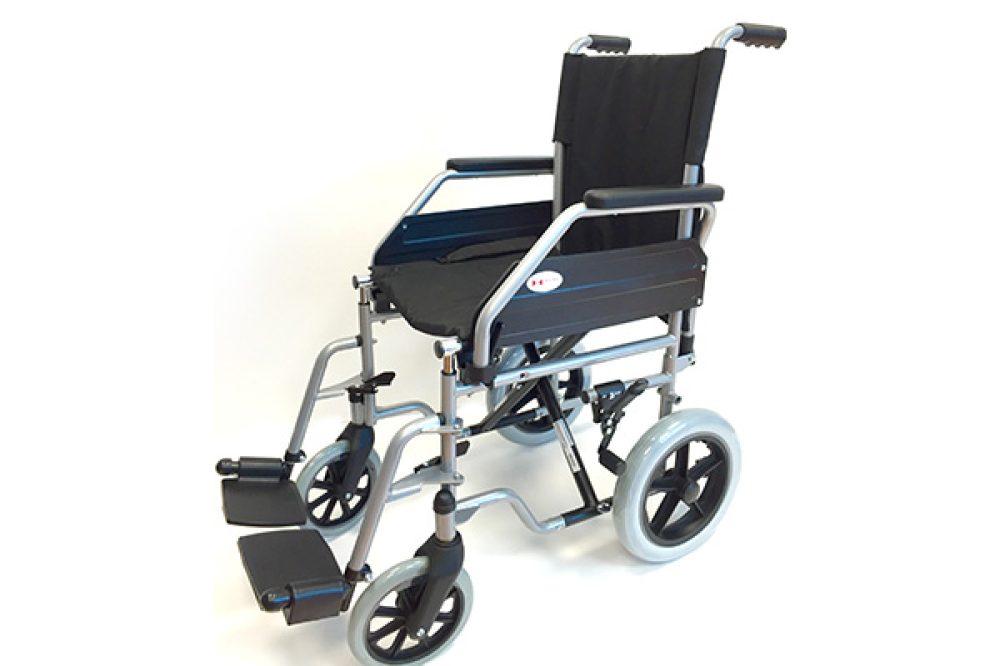 silla ruedas acero de acompañante